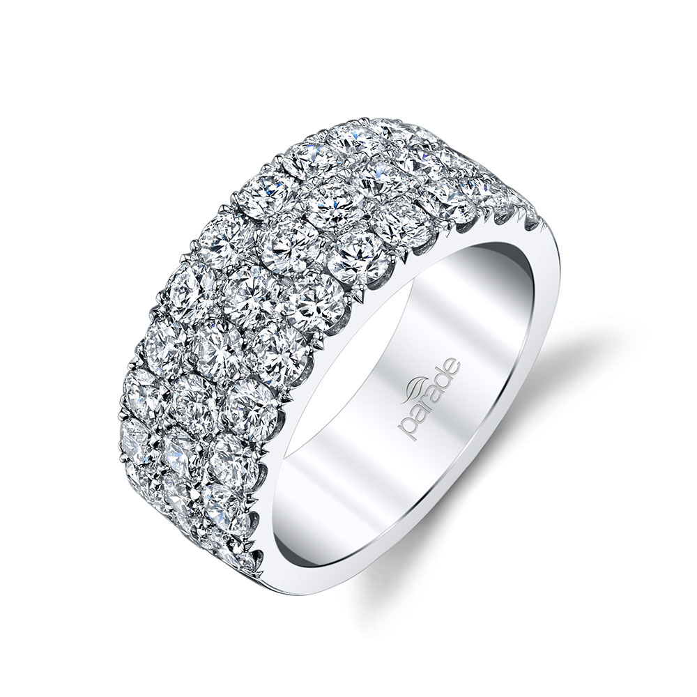 Classic diamond fashion band from the Lumiere collection by Parade Design.