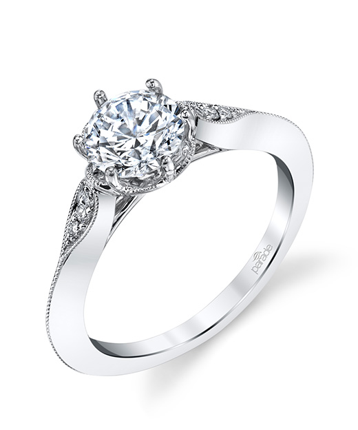 Vintage designer diamond engagement ring by Parade Design.