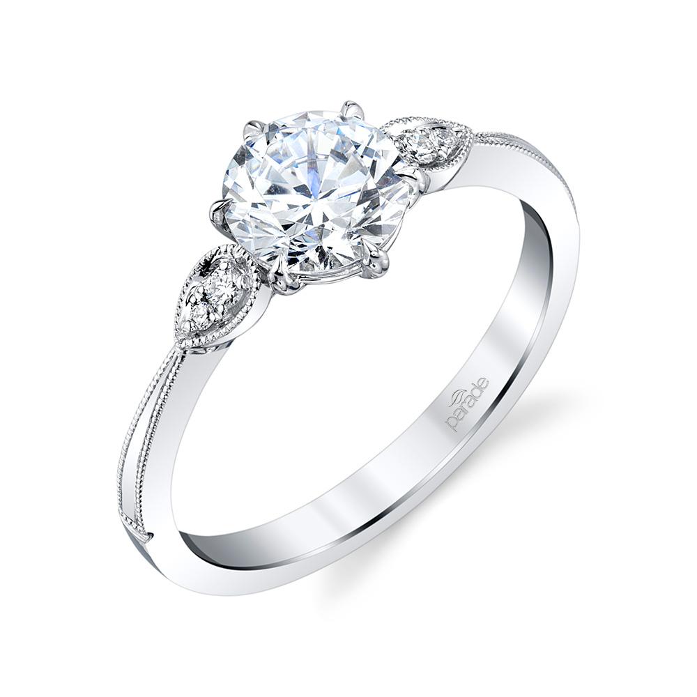 Vintage designer diamond engagement ring by Parade Design.