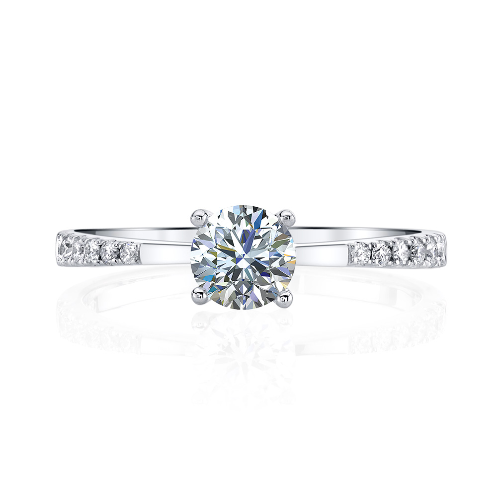 Classic designer diamond engagement ring by Parade Design.