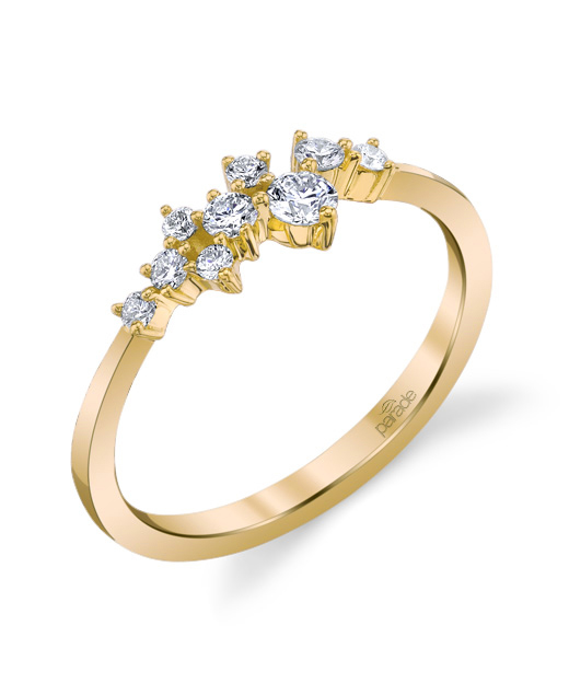 Designer diamond cluster fashion ring by Parade Design.