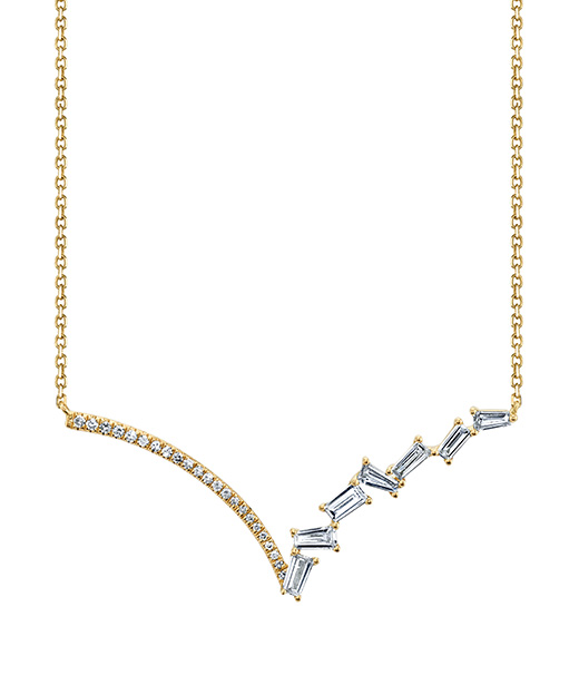 Contemporary designer diamond fashion necklace by Parade Design.